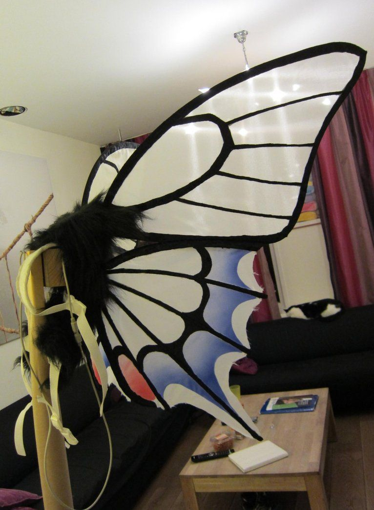 Custom painted swallowtail fairy wings in blues, blacks and silver veins. *PLEASE NOTE, MY IMAGES ARE NOT STOCK! Do not use or re-distribute without express written permission.