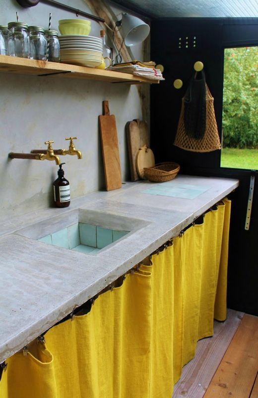 50 Gambar Inspiratif Meja Dapur Cor Dengan Beton Ekspos