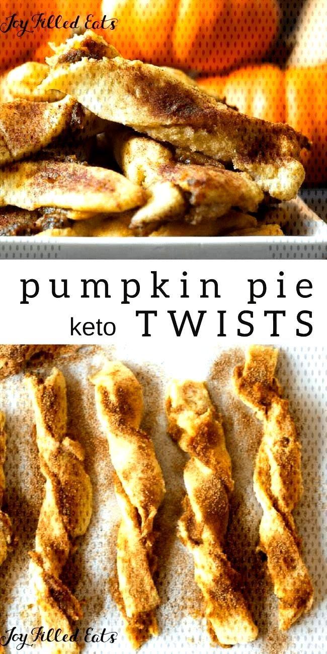 My keto Pumpkin Pie Twists are low carb, grain gluten sugar free, amp a THM S. The...
