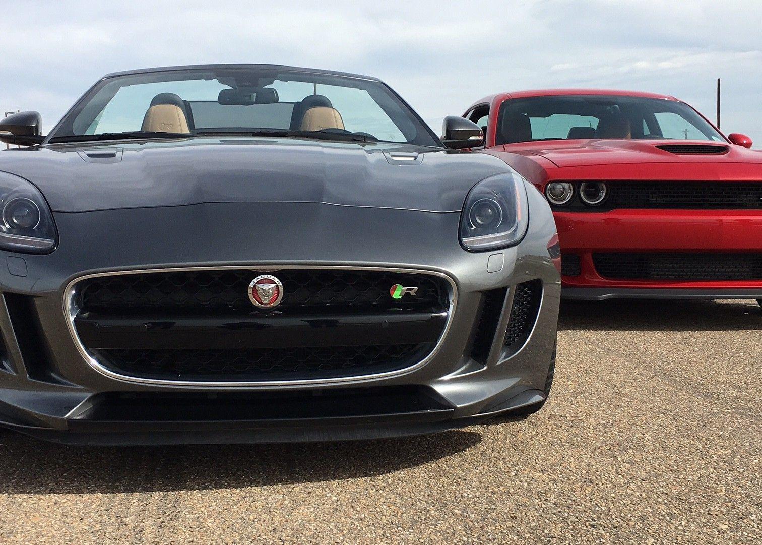 Charming Dodge Challenger Hellcat VS Jaguar F Type R