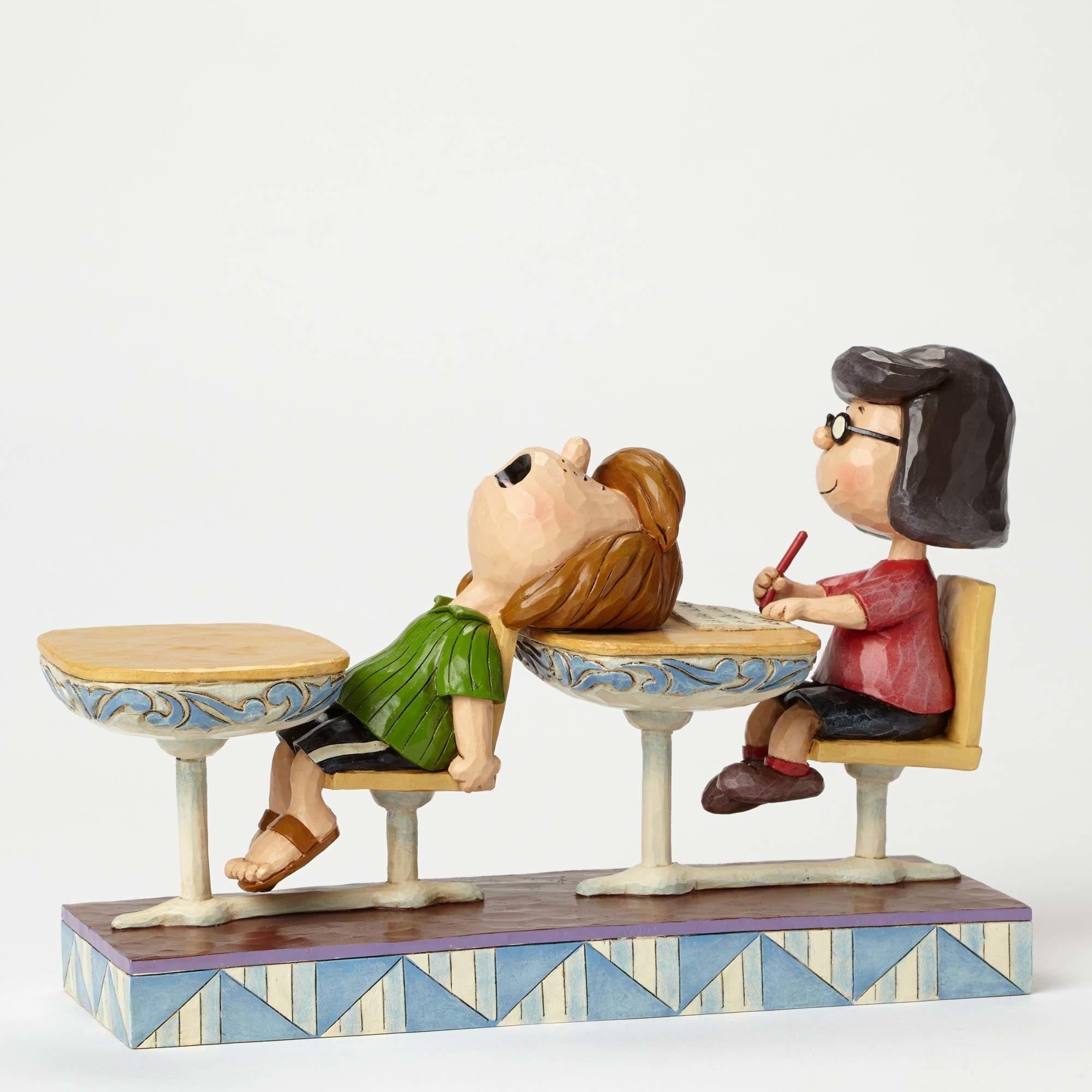 School Days-Marcie and Peppermint Patty Figurine