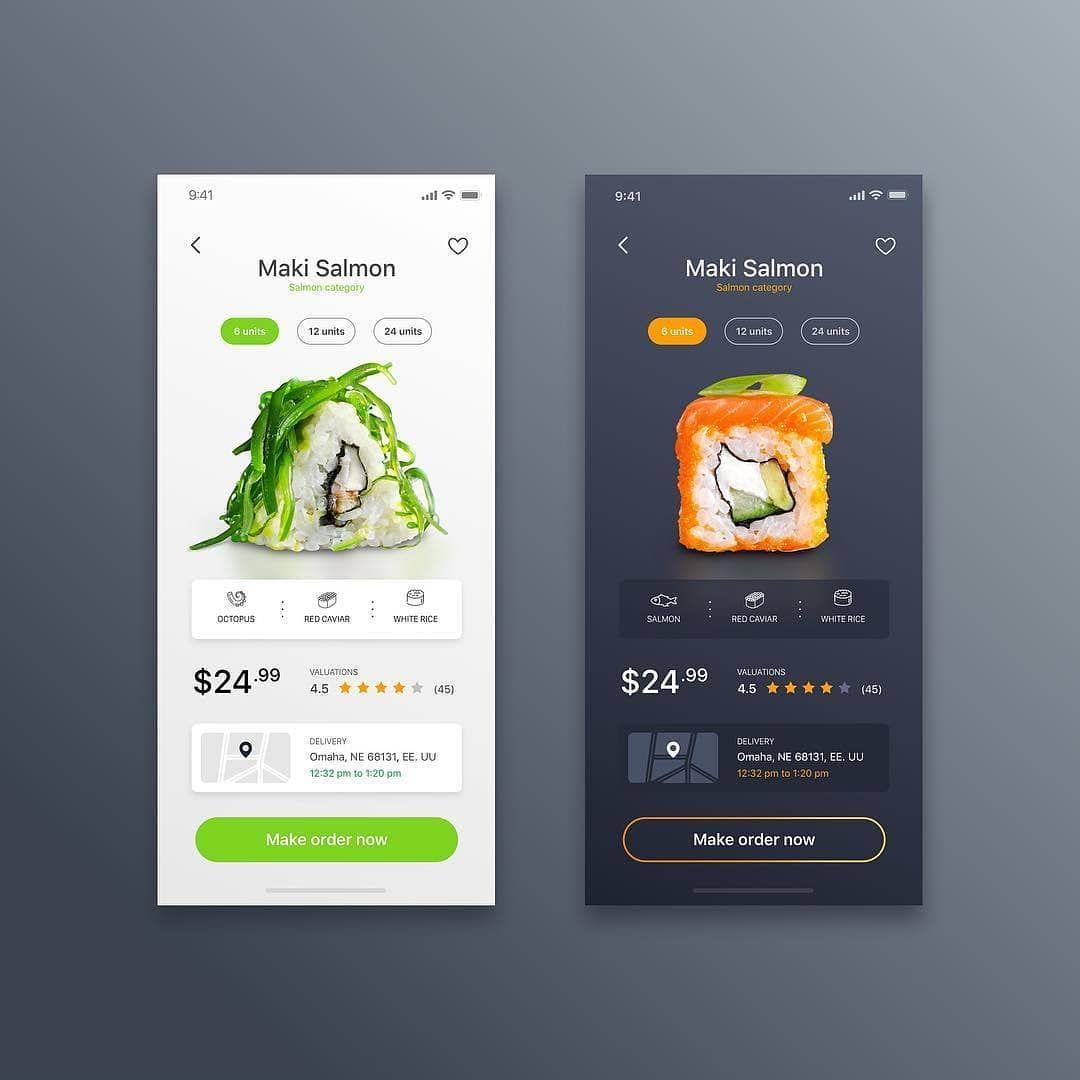 Sushi Food App Brain B Dizajn Mobilnyh Keglya Prilozheniya