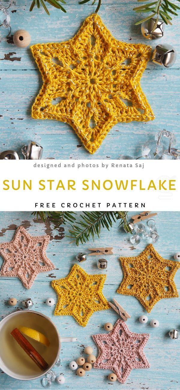 Décorations de crochet de flocons de neige pour l'hiver   – Weihnachten
