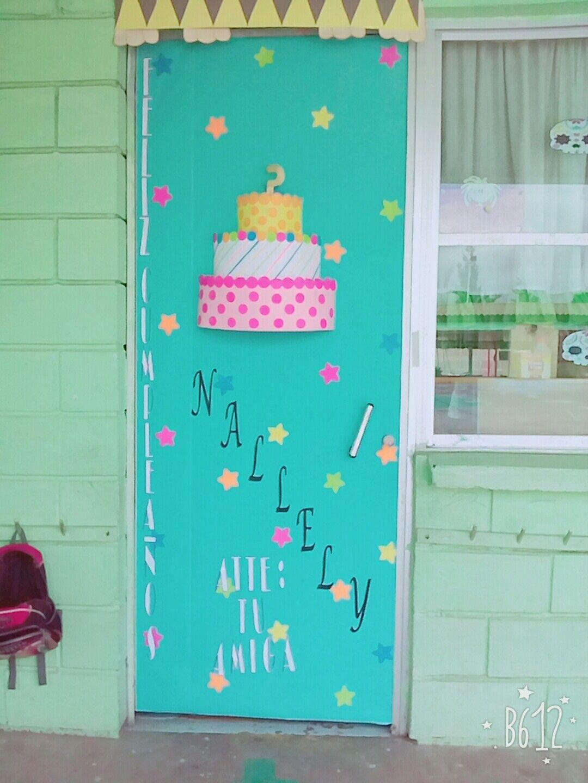 Puerta de feliz cumplea os puertas decoradas y for Puertas decoradas educacion infantil