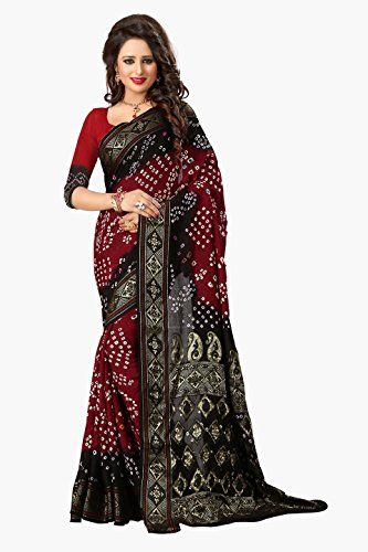 b2f32d3199 Pin by Latest Women Fashion Trends on #saree styles | Bandhani saree ...