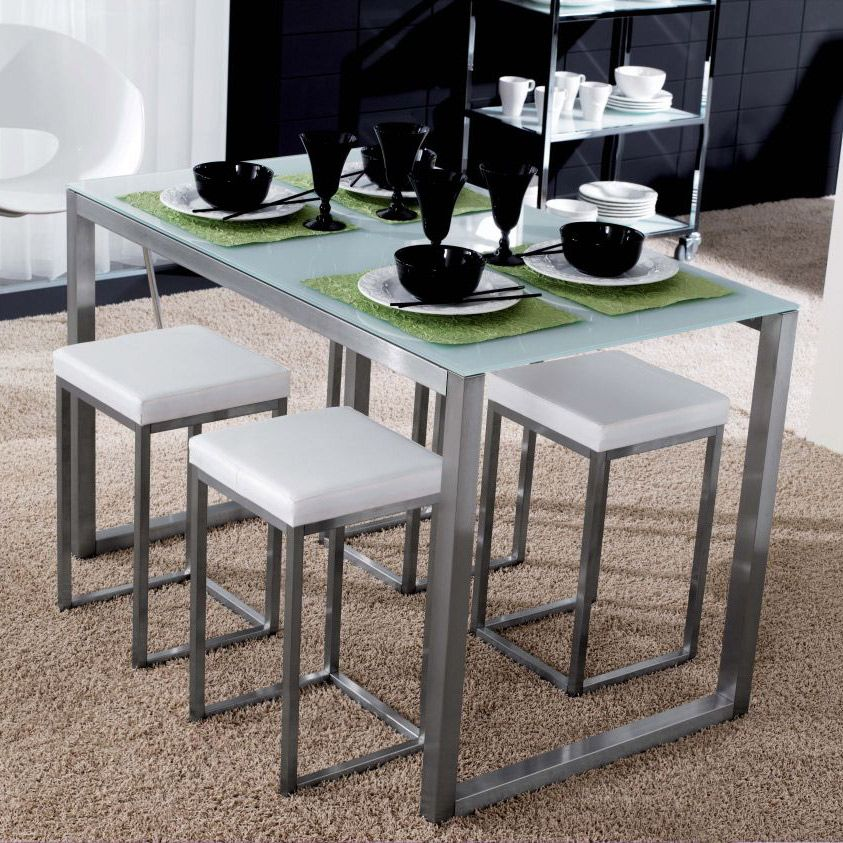 Powell mesa auxiliar de diseño, moderna y elegante, con estructura ...
