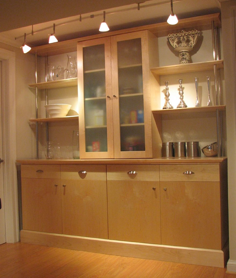 Picture of Custom Made Maple Kitchen Wall Unit Glass Door ...