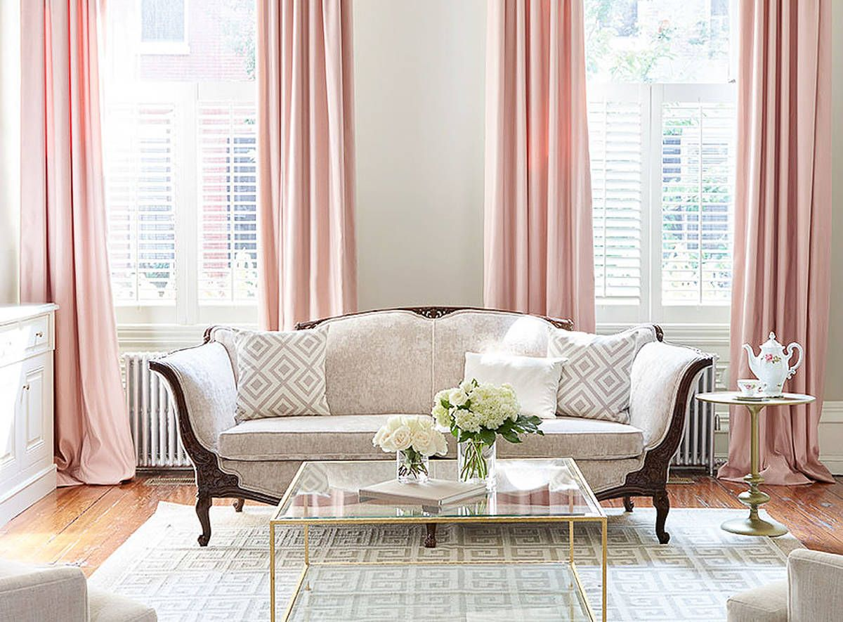 Best Home Inspiration Decorating With Blush Pink Living Room 640 x 480