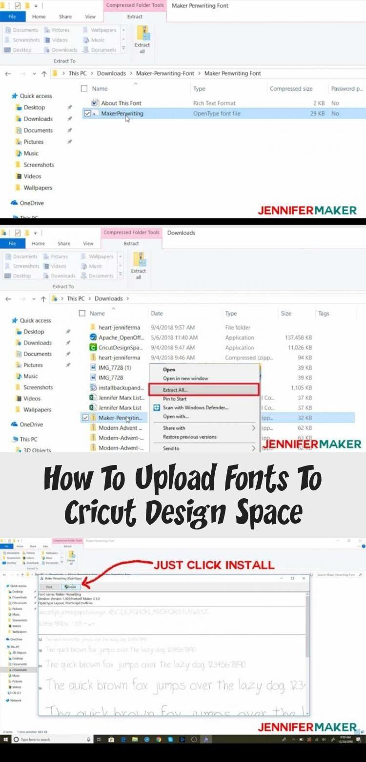 How To Upload Fonts To Cricut Design Space Cricut design