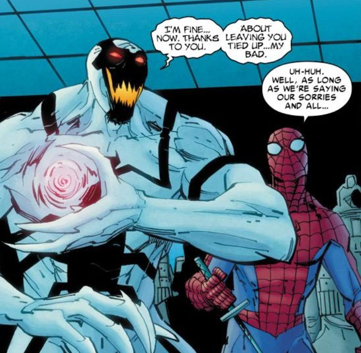 antivenom and spiderman in amazing spiderman 664