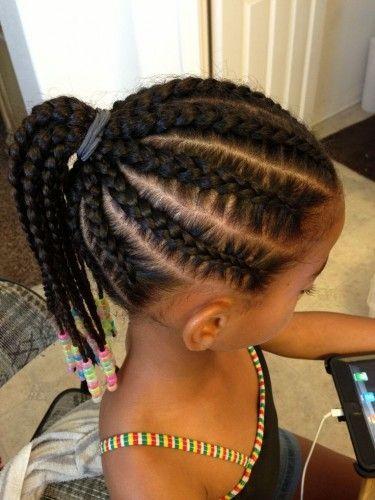 Kid Braid Black Hairstyles Very Good Wedding For African American Toddlers Idea