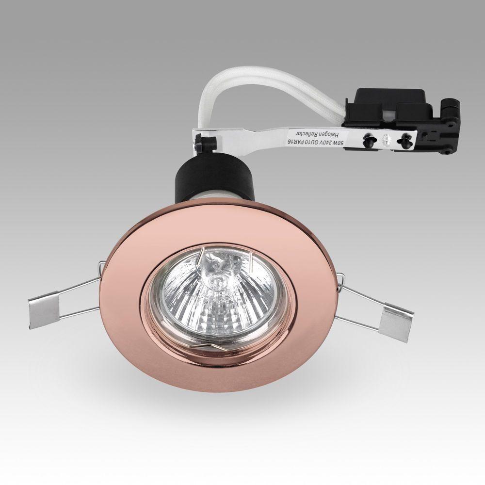 Modern Copper Mains Gu10 Recessed Ceiling Spot Light Downlights