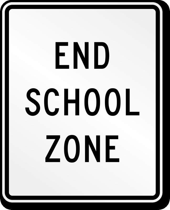 End School Zone Traffic Sign School Zone School Zone Sign School Signs