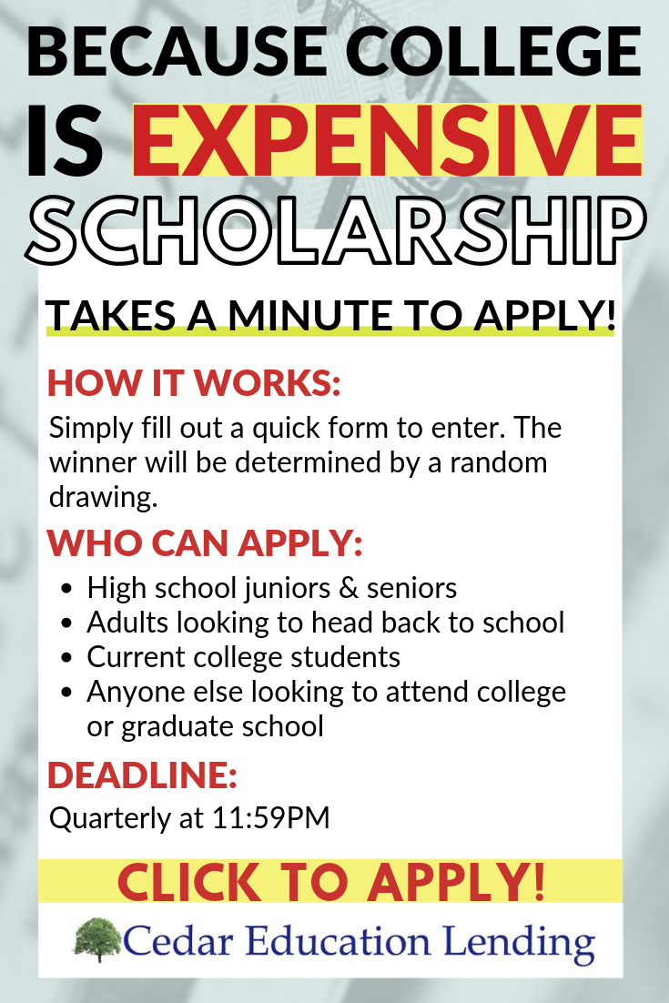 Take A Minute To Apply To The Because College Is Expensive Scholarship Scholarships For College Students Scholarships For College School Scholarship
