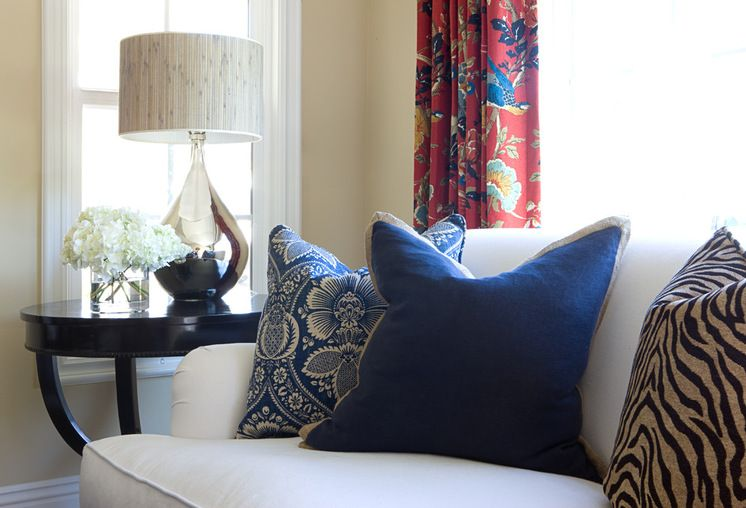 Throw pillows: overstuff an 18-inch pillow cover with a 20-inch insert for a professional look.