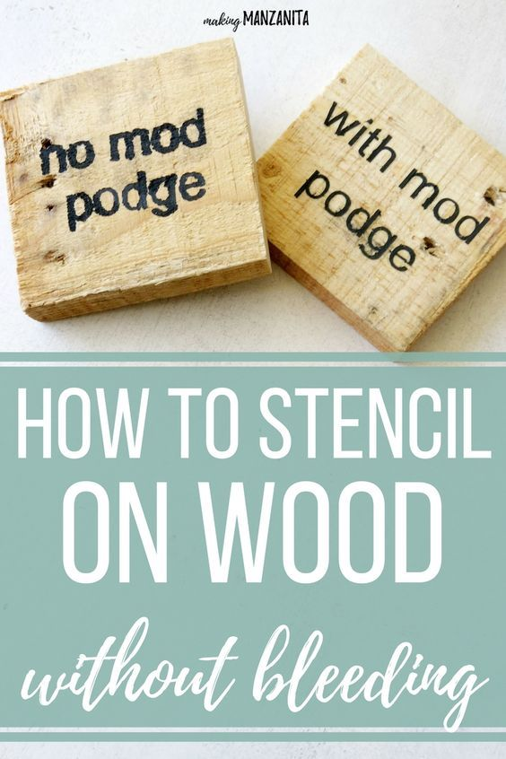 Photo of Stencils for Wood Signs: How To Prevent Bleeding Under Stencil