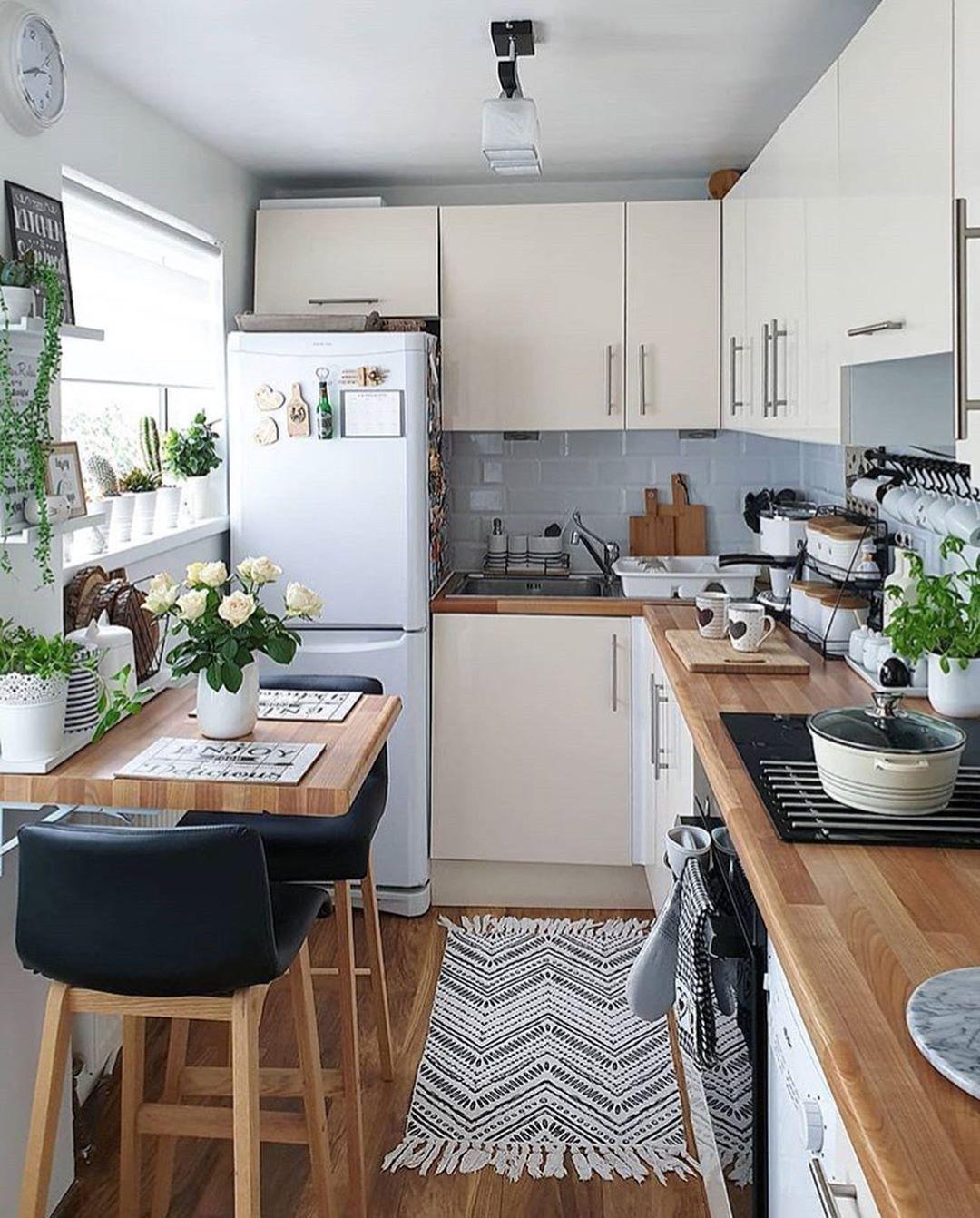 60 Kreative Kuchen Gestaltung Und Organisation Ideen 60 Kreative Kuchen In 2020 Small Apartment Kitchen Kitchen Remodel Small Small Space Kitchen