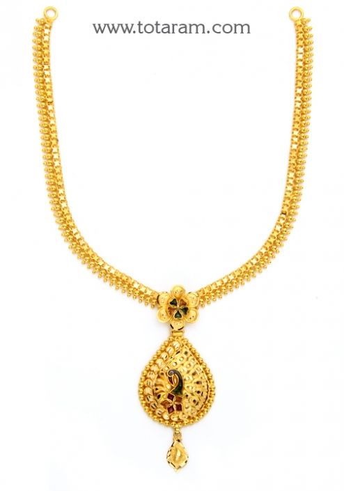 jewelers buy chains chain indian inches length pin totaram mangalsutra gold in of