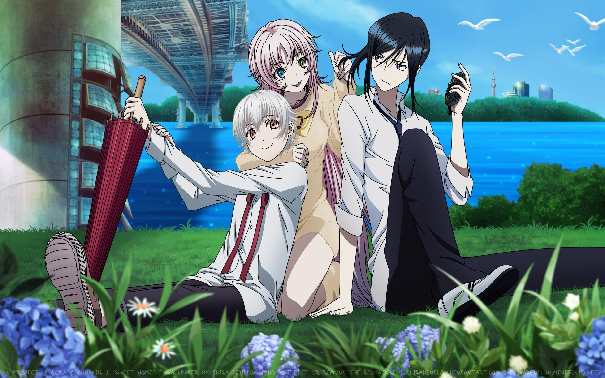 K Anime Wallpaper Of Neko Kuroh And Yashiro K Project Anime K