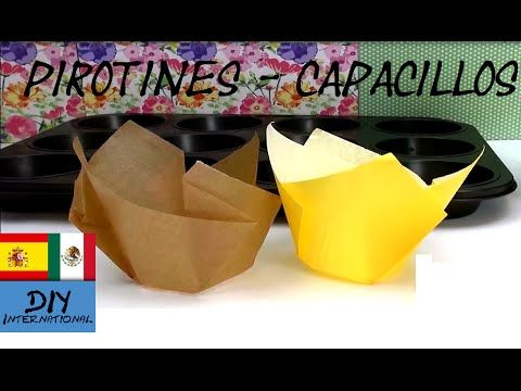 Cómo Hacer Pirotines Capacillos ó Cápsulas Para Cupcakes Y Muffins Tutorial Diy Youtube Capacillos Para Cupcakes Pirotines Moldes De Cupcakes