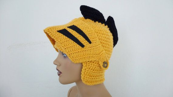 Crochet UCF Knight Hat-Knight Hat with Movable and Detachable Face ... bb0df9d95fa