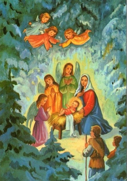 No l la nativit nativity scene pinterest la nativit nativit et cartes anciennes - Images creches de noel gratuites ...