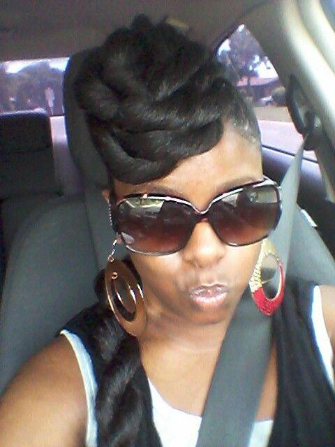 Twisted mohawk using braiding hair   Pretty hairstyles ...