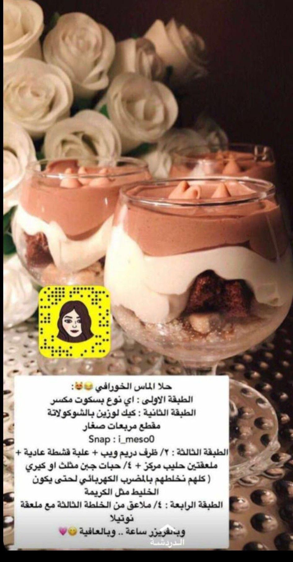 Pin By Marwa On وصفات من كل بلدان العربية Yummy Food Dessert Food Recipies Food Receipes
