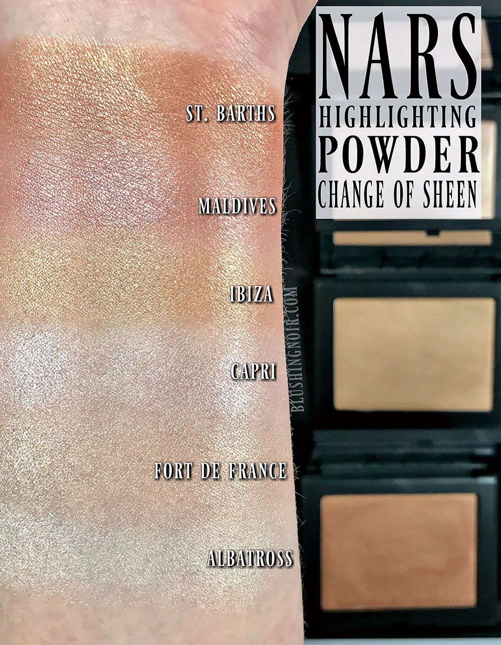 NARS Highlighting Powders Swatches + Review | MAKEUP - We ...