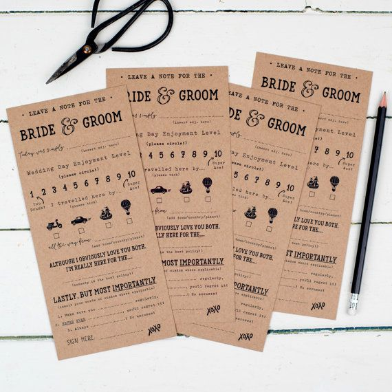 Funny Wedding Bride And Groom Score Cards