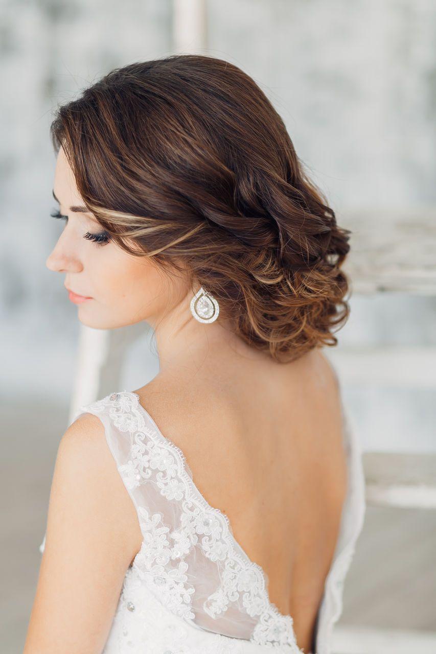 фото свадебные укладки на короткие волосы