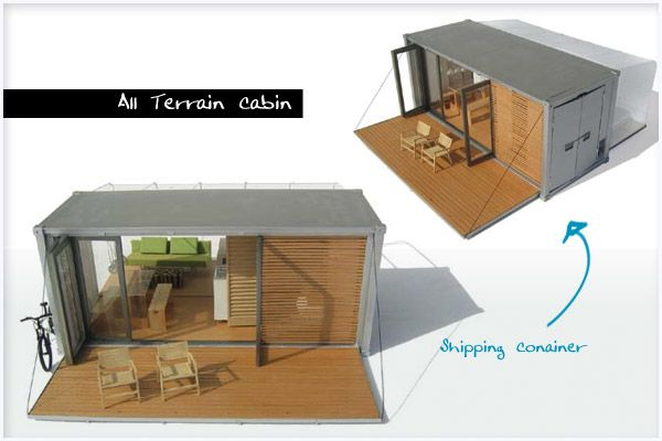 Shipping Container Architecture Thesisizing Pinterest Cabin - All terrain cabin shipping container homes