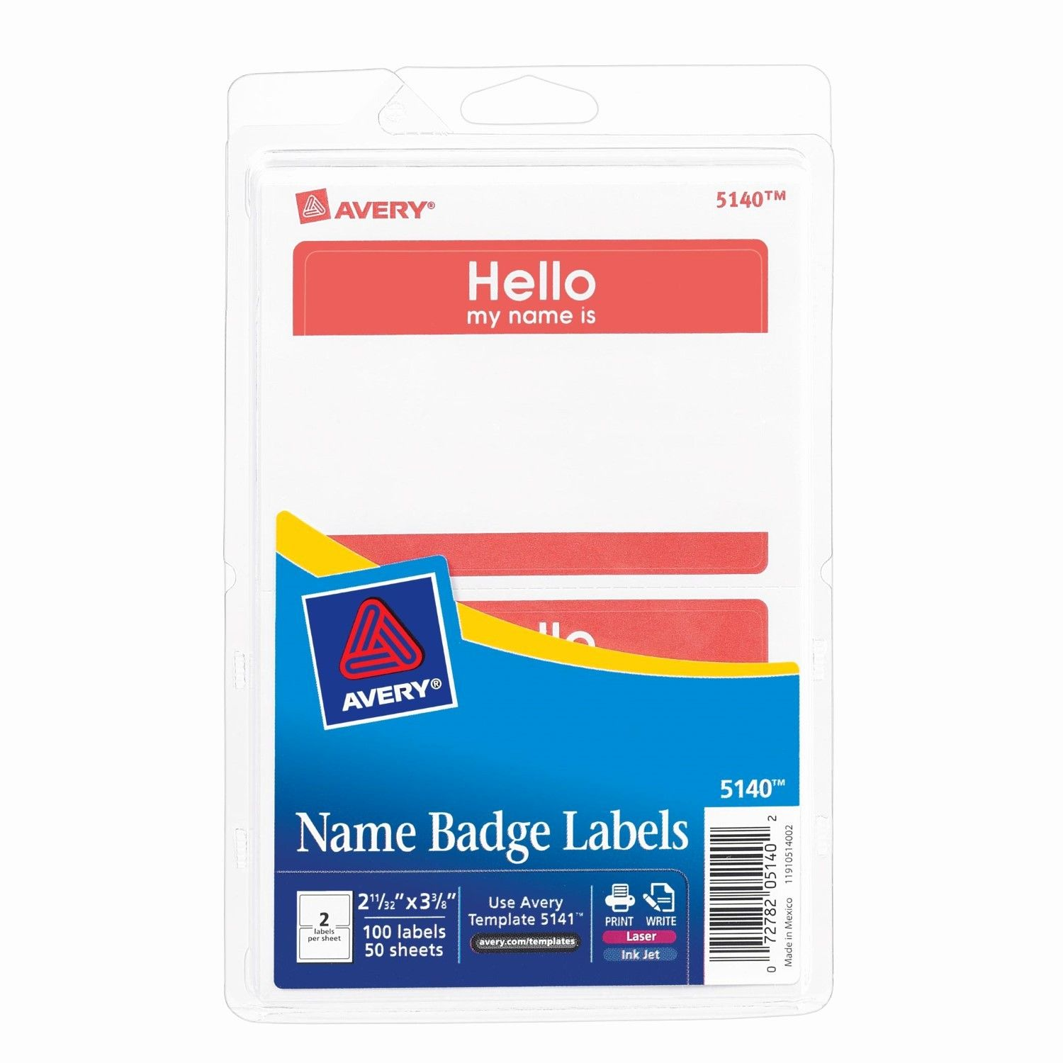 Avery Name Badge Labels Template Inspirational Avery Border Print Or Write Name Badge Labels 2 34 X 3 38 Label Templates Name Badges Labels