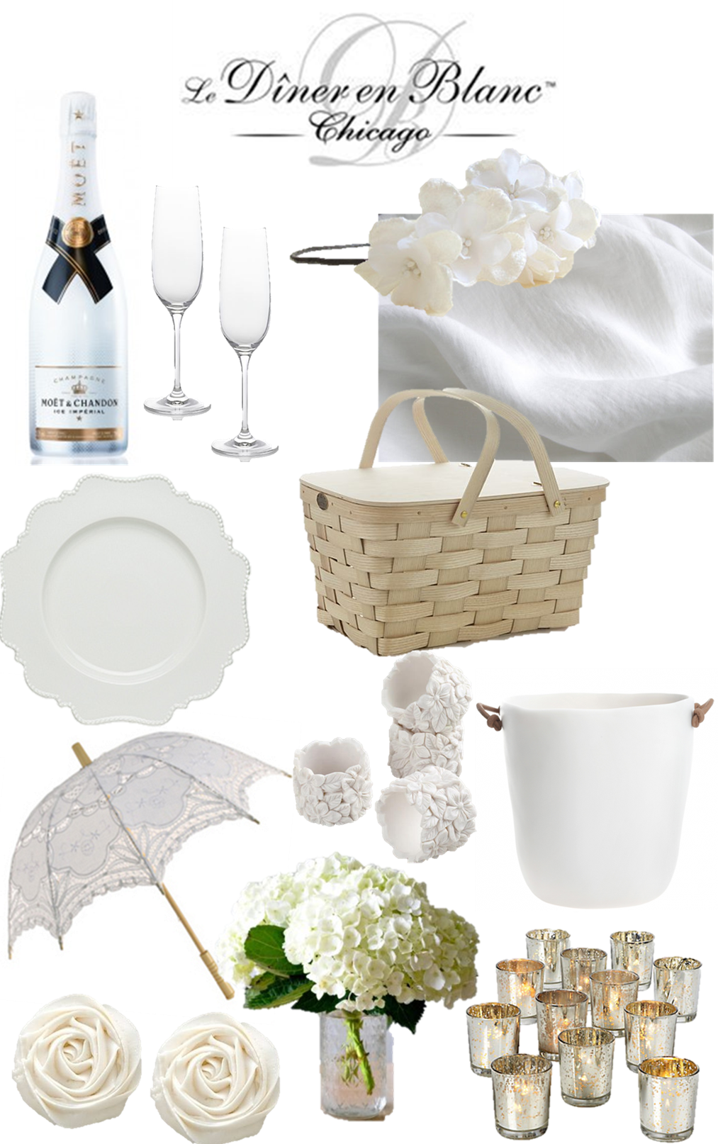 diner en blanc inspiration, white picnic, summer picnic, white party ...