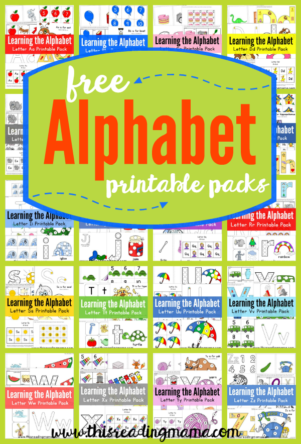 FREE ABC Printable Packs {Learning the Alphabet