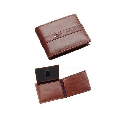 Tommy Hilfiger Men's 100% Cowhide Leather Ranger Passcase Wallet #TommyHilfiger #Bifold