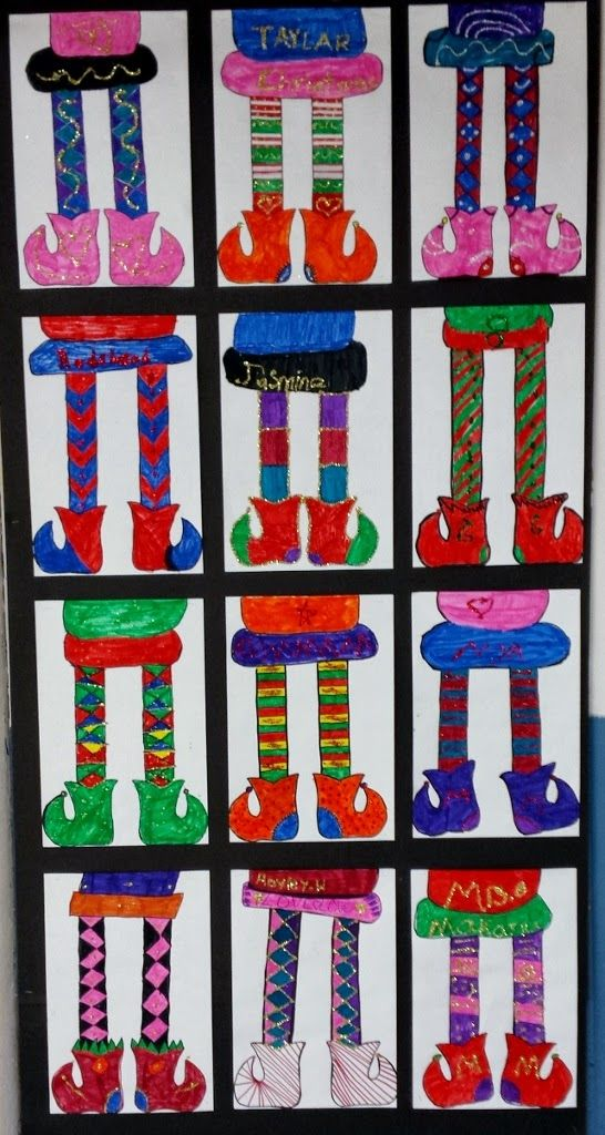 3rd Grade Christmas Craft Ideas Part - 45: 3rd Graders Designed Symmetrical Elf Legs With Both Their Legs And Boots  Having The Same Details · Christmas Art ProjectsChristmas  ActivitiesChristmas ...