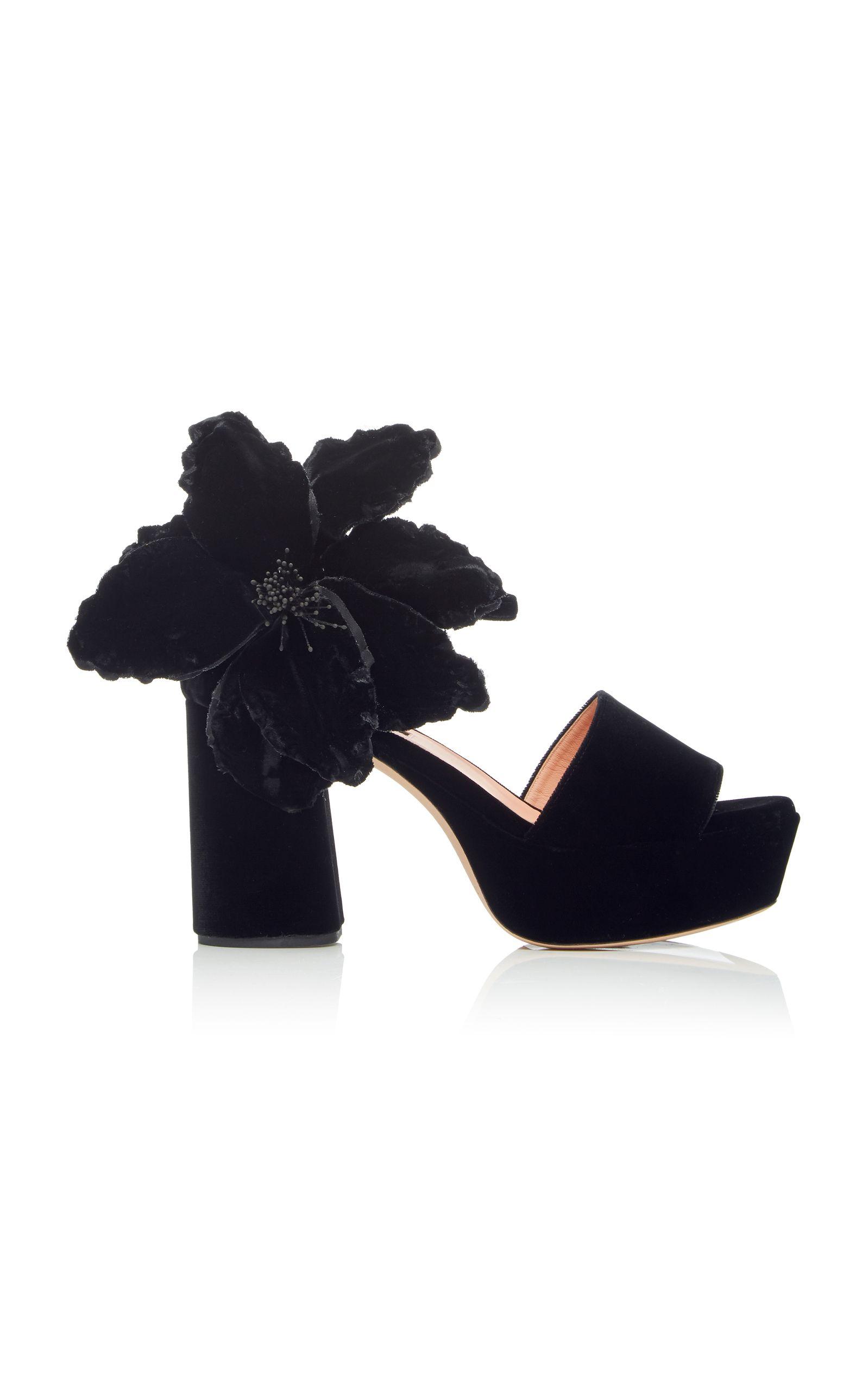 d626a55e622e3 Flower Platform Sandal by ROCHAS for Preorder on Moda Operandi. ROCHAS  FLOWER PLATFORM SANDAL. #rochas #shoes # Ladies Dress Design ...