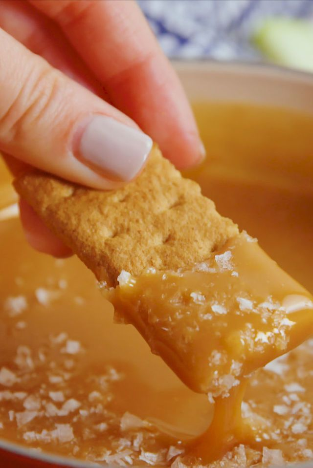 Salted Caramel Fondue #fondue