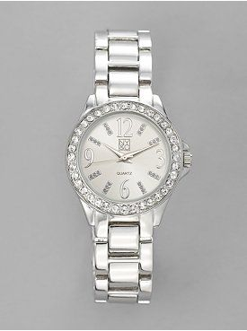 Crystal Embellished Round Face Watch from New York & Company $24.95