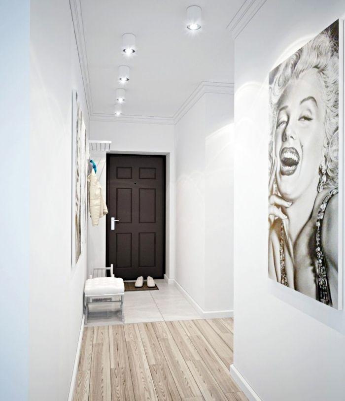 ▷ 1001 + moyens de changer du0027ambiance avec une idée déco couloir - deco peinture entree couloir