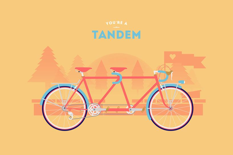 You're a tandem     Poster design series from Romain Bourdieux and Thomas Pomarelle of Cyclemon