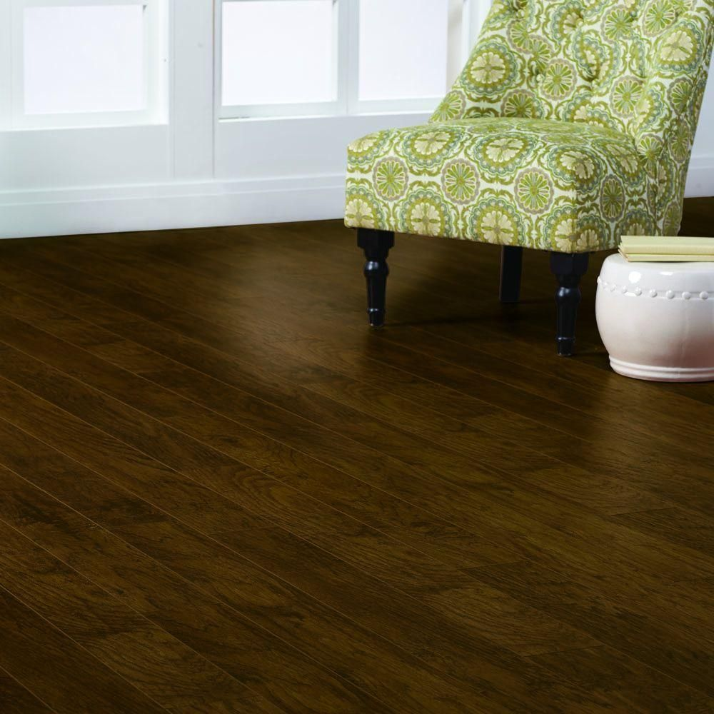 Bon Home Decorators Collection Hand Scraped Tanned Hickory 12 Mm Thick X 5 9/32  In. Wide X 47 17/32 In. Length Laminate Flooring (12.19 Sq. Ft.
