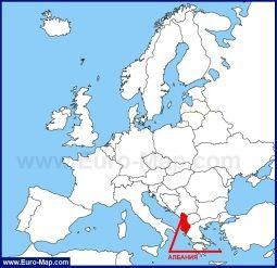 Albaniya Na Karte Evropy I Mira Karta Albaniya Mir