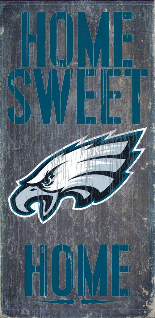 594c994b730 Philadelphia Eagles Wood Sign - Home Sweet Home 6
