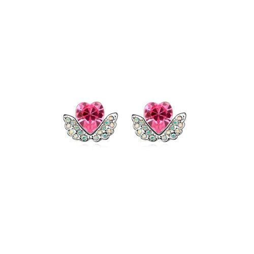 Angel Hearts Design Austrian Crystal Earrings - Pink
