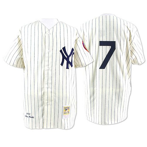 bbd80055a New York Yankees Authentic 1952 Mickey Mantle Home Jersey by ...
