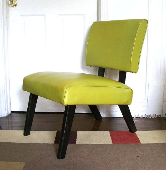 Vintage 1960 S Side Chair Chartreuse Green By