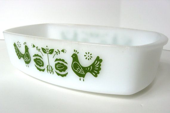 Shabby chic Federal Glass baking pan