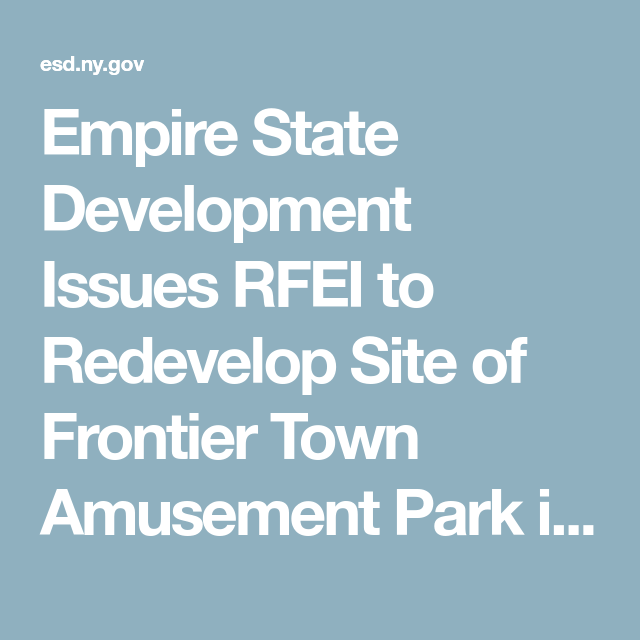 Empire State Development Issues RFEI To Redevelop Site Of